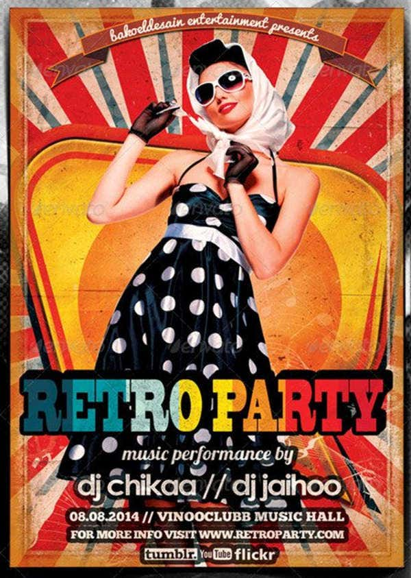 Retro Minimal Party Flyer