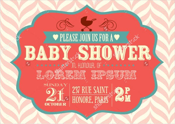 vector baby shower invitation card