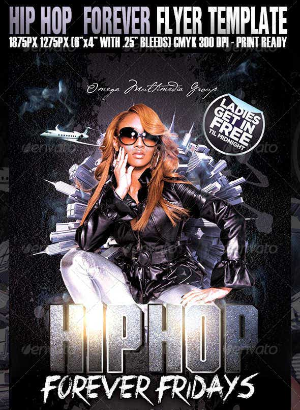 Hip Hop Forever Party Flyer