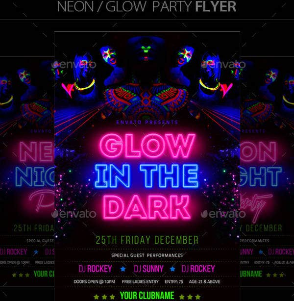 neon glow party flyer2