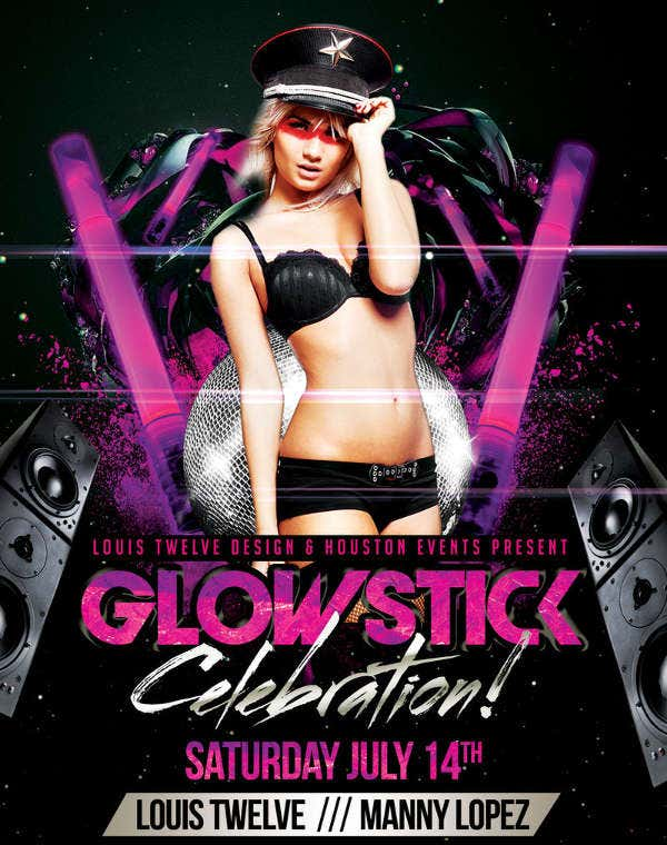 Glow Stick Party Flyer