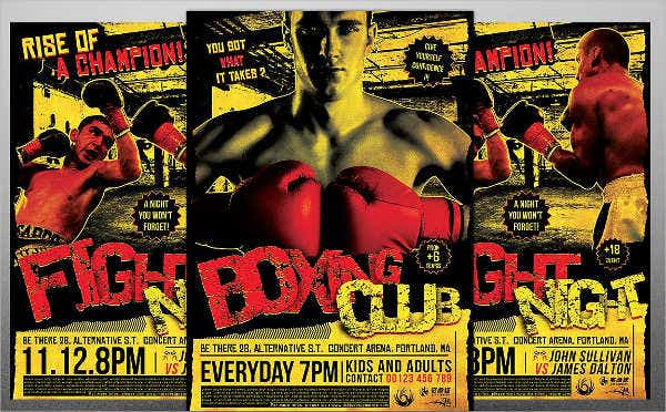 Fitness Boxing Class Flyer
