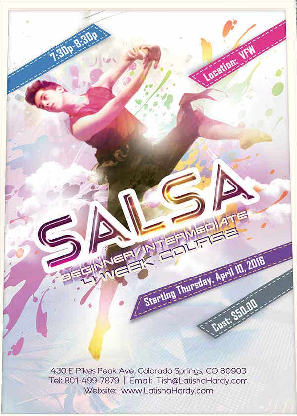 dance fitness promotional flyer