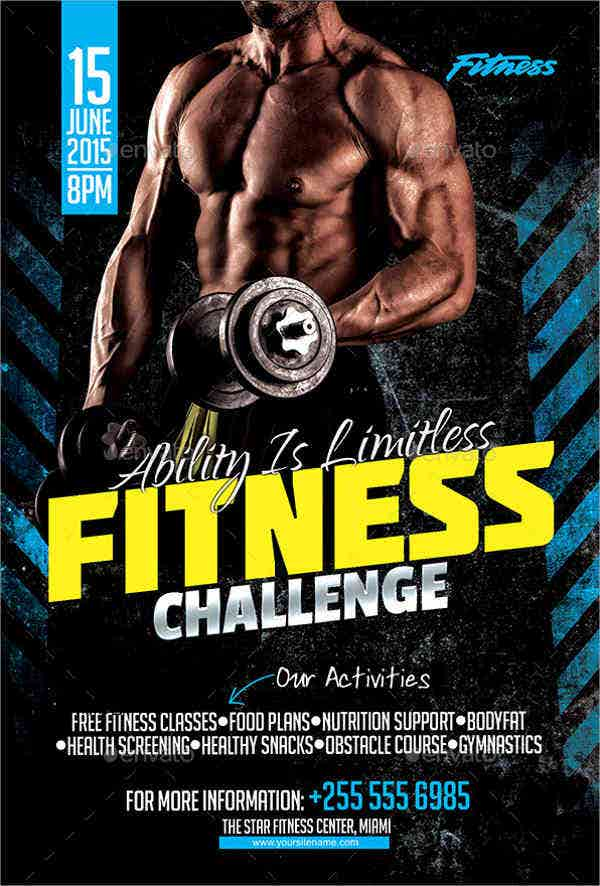 fitness challenge event flyer