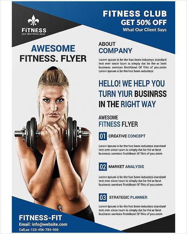 womens fitness gym flyer