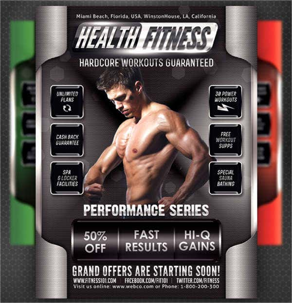 health and fitness product flyer2