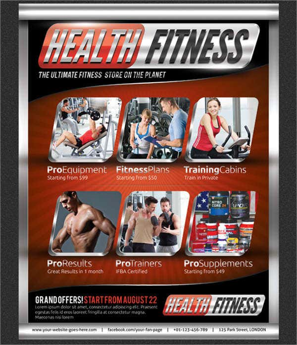 health and fitness magazine flyer1