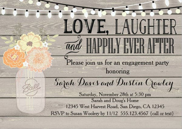 -Engagement Party Invitation Card