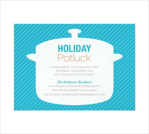 Holiday Potluck Flyer