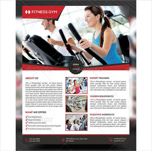 modern physical fitness flyer