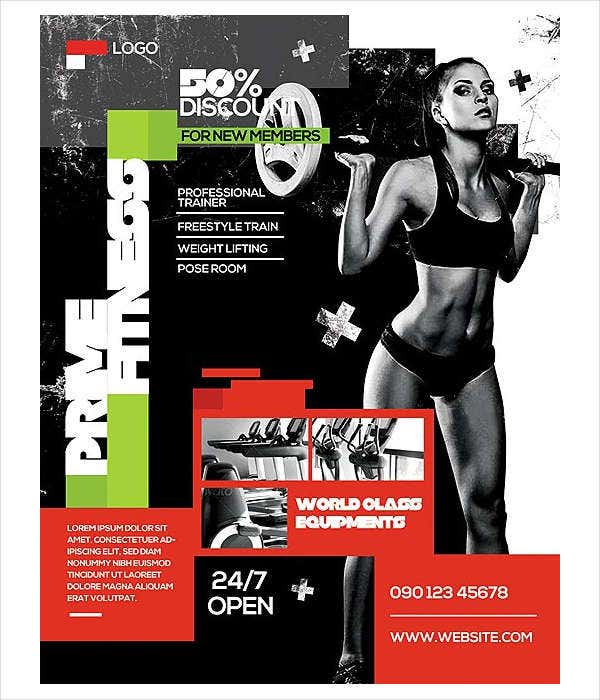 modern fitness studio flyer