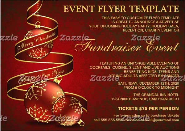 holiday-fundraising-event-flyer