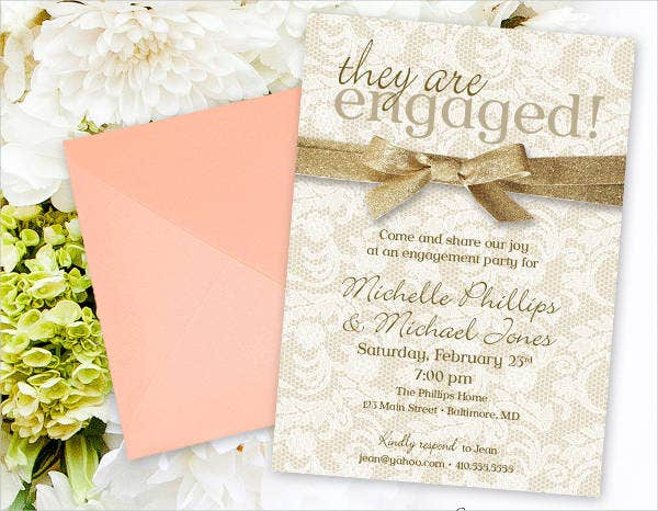 -Diy Engagement Invitation Card