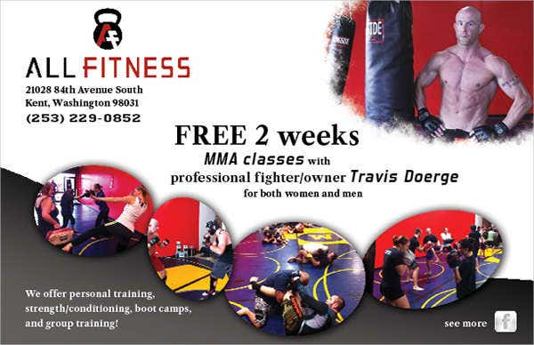 urban fitness promotional flyer