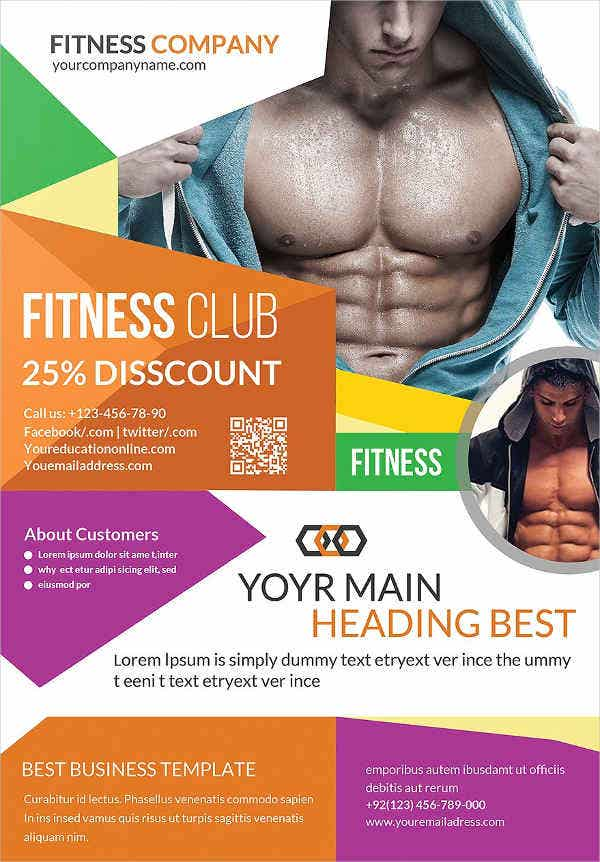 multipurpose fitness promotional flyer