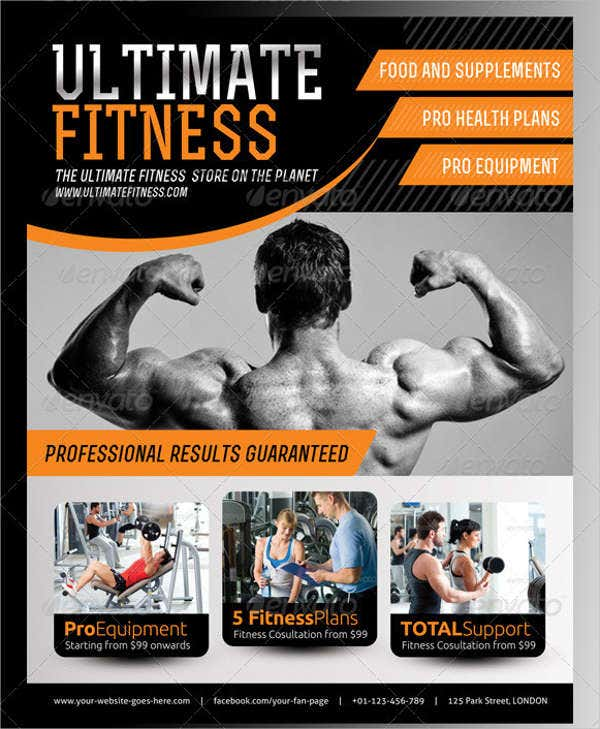 fitness business advertising flyer