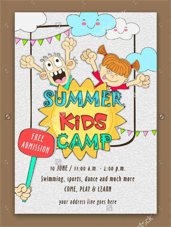 summer art camp event flyer
