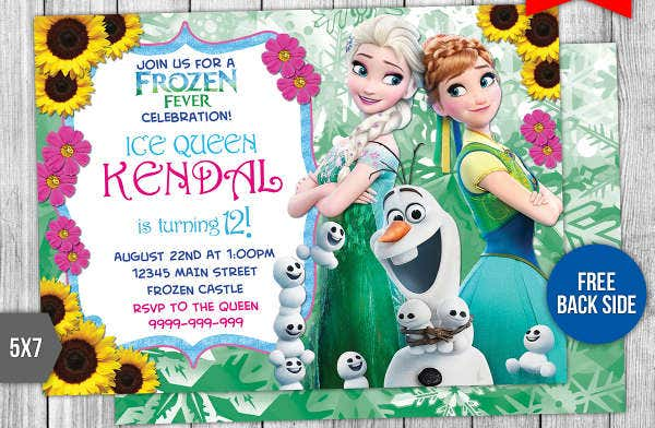 -Disney Birthday Invitation Card