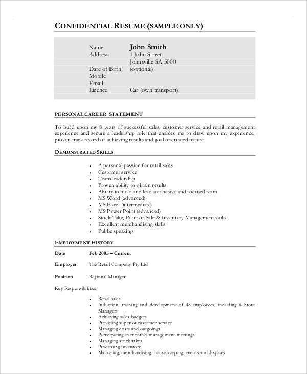 20 Business Resume Templates Pdf Doc Free Amp Premium