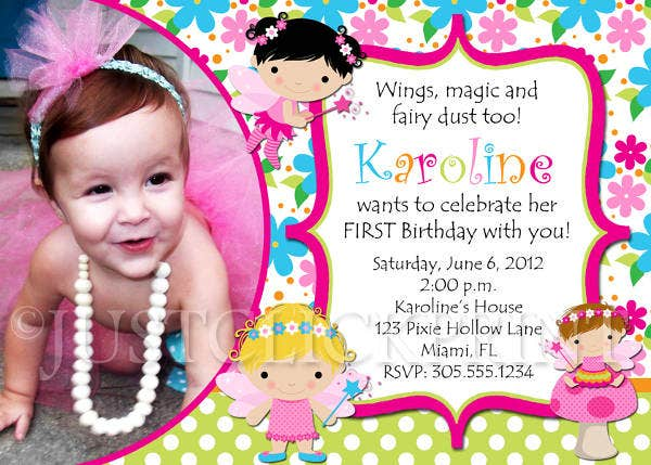 -Fairy Themed Invitation Card