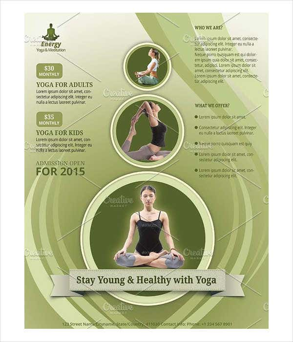 yoga and fitness club flyer1