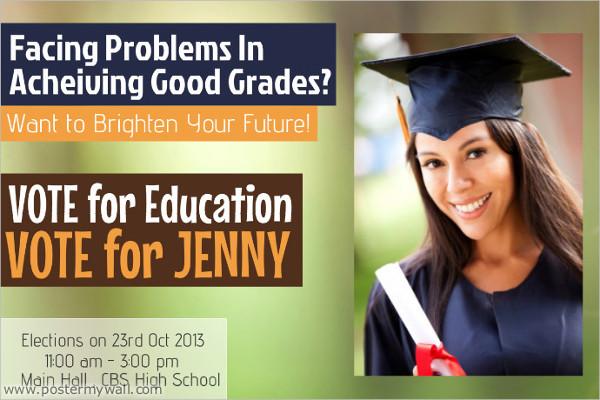 school campaign flyer