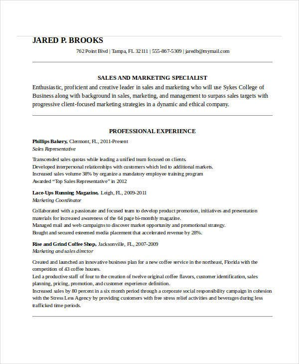business school admission resume