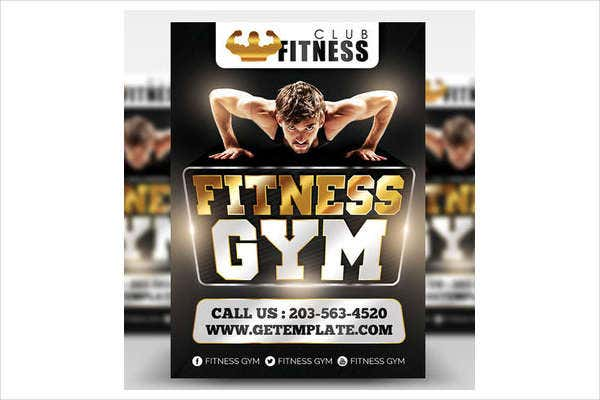 personalized fitness club flyer