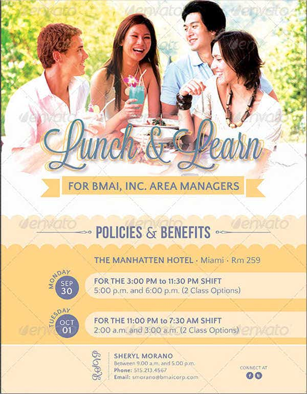 business lunch event flyer