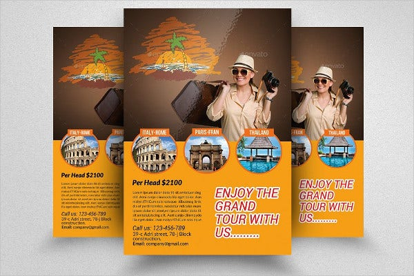 photoshop travel flyer