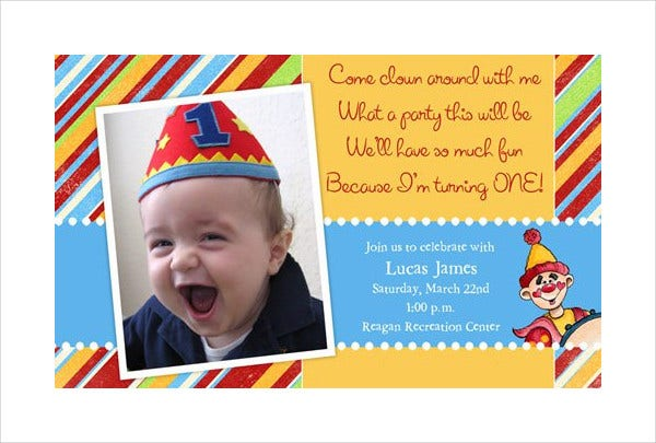 birthday photo invitation card