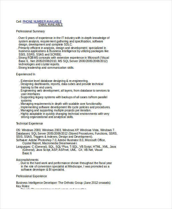 i need a resume for a job template business object resume business - Business Object Resume