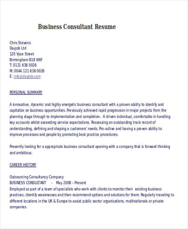 business consultant resume sample business consultant resume sample - Business Consultant Resume Sample