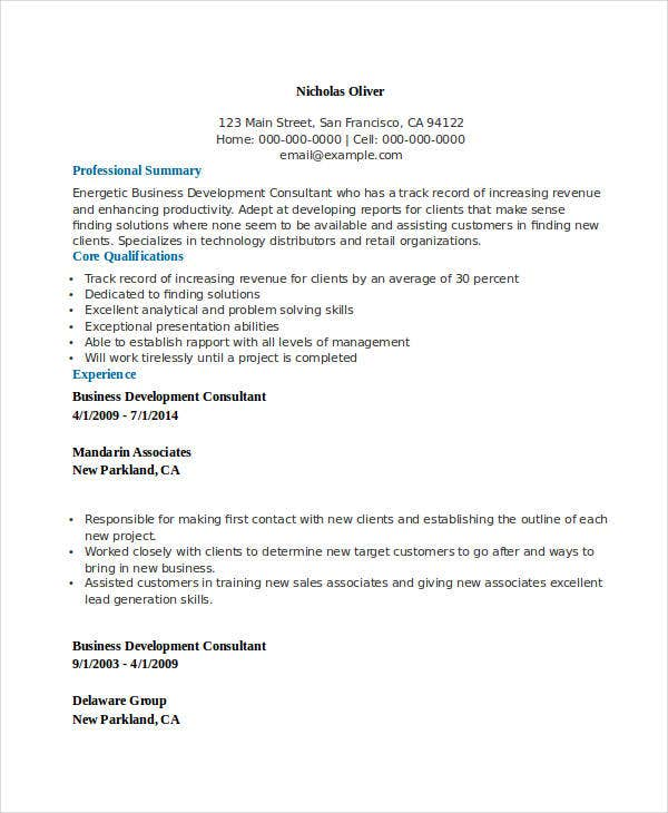 trendresume resume styles and resume templates business consultant