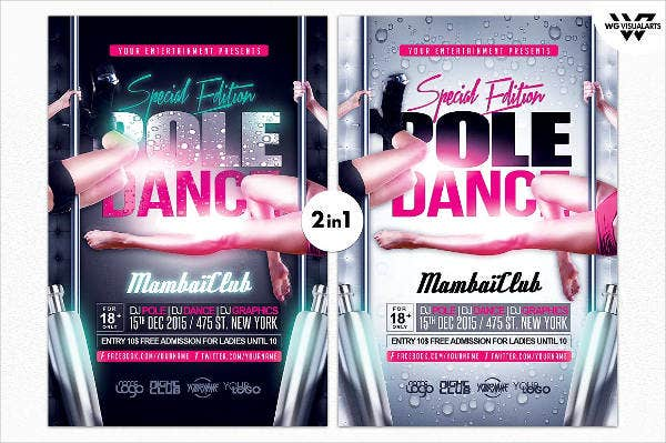dance event flyer psd1