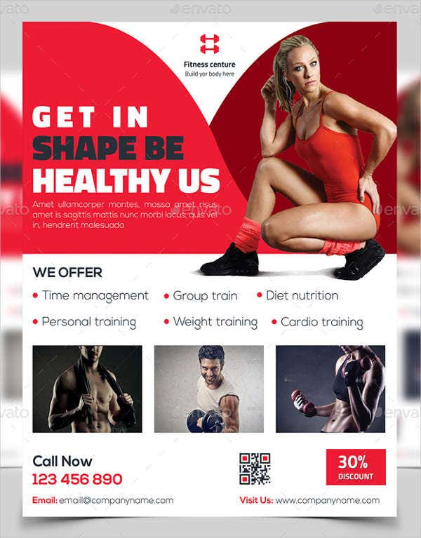 fitness digital marketing flyer