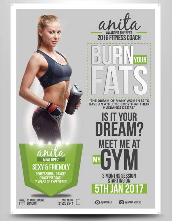 fitness professional marketing flyer