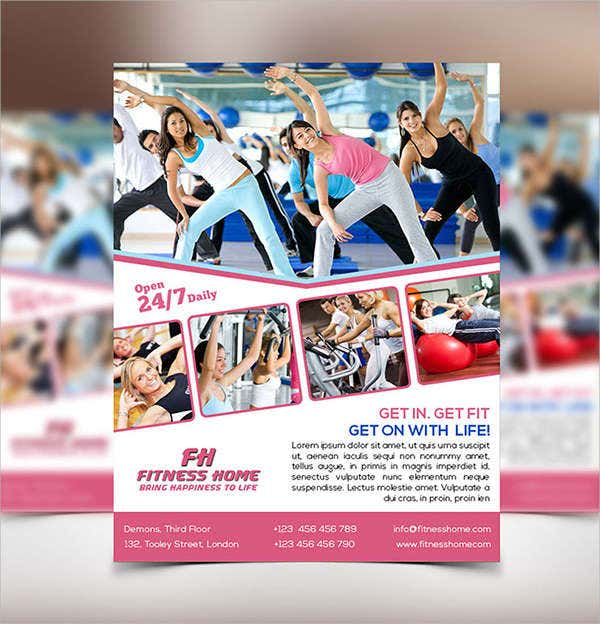home fitness program flyer