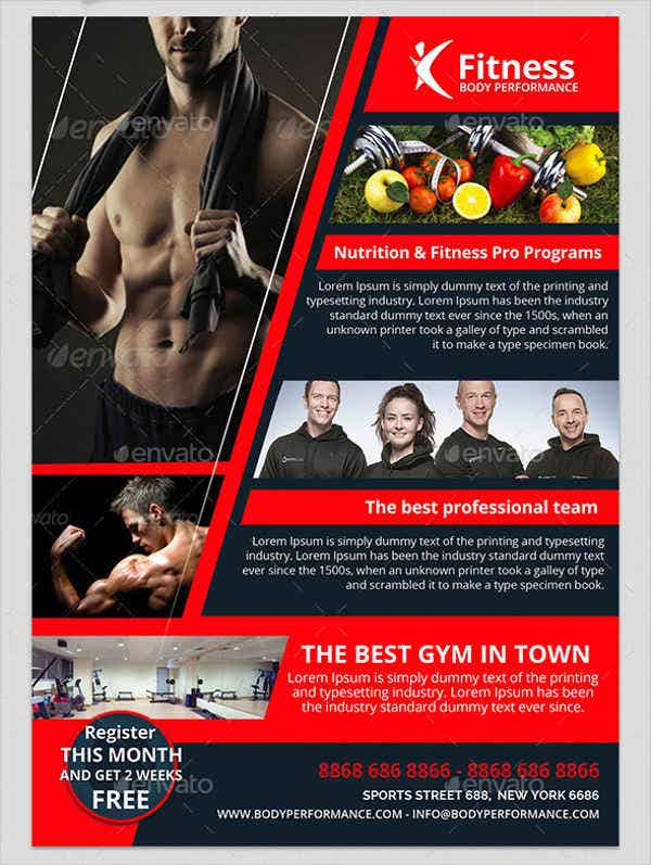 personal development fitness flyer