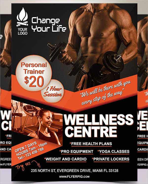 personal wellness and fitness flyer