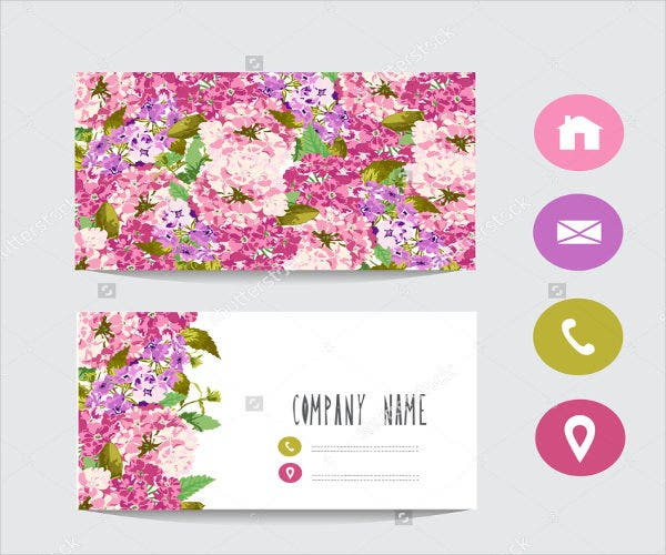 company floral greeting card