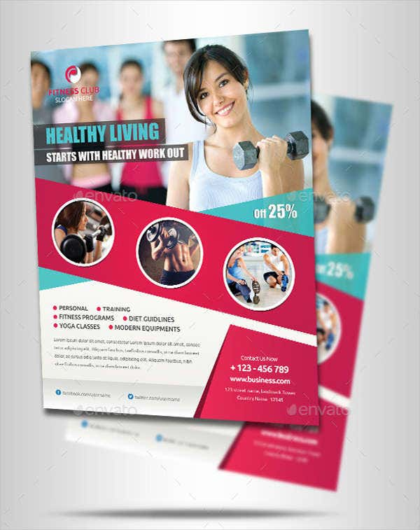 Fitness Flyer Designs  Free  Premium Templates