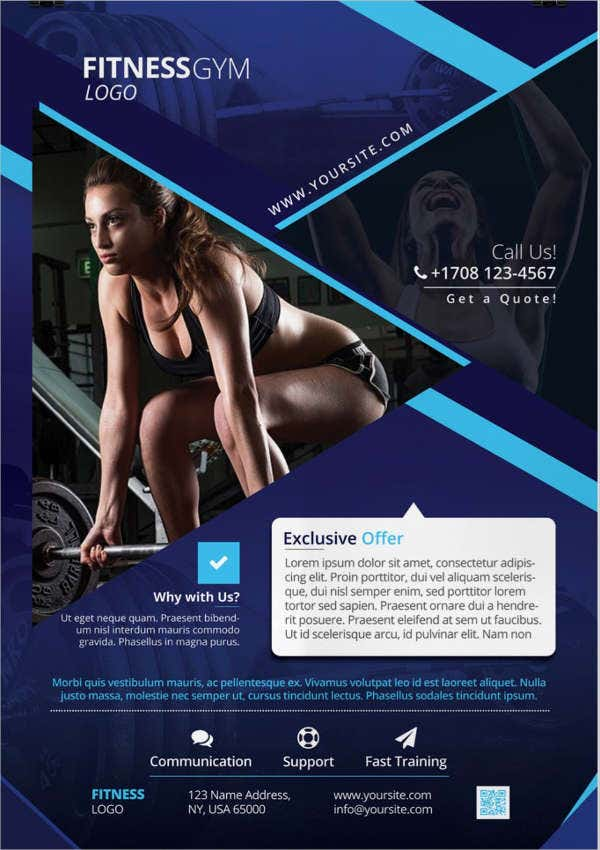 Free Sample Fitness Flyer