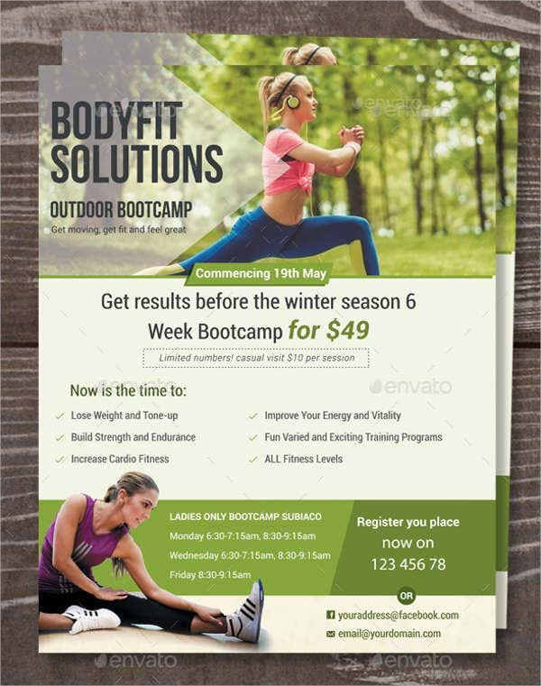 Sample Boot Camp Fitness Flyer