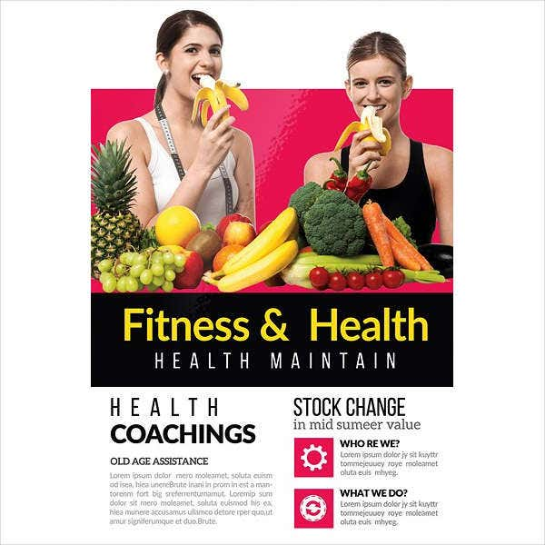 Health and Fitness Product Flyer