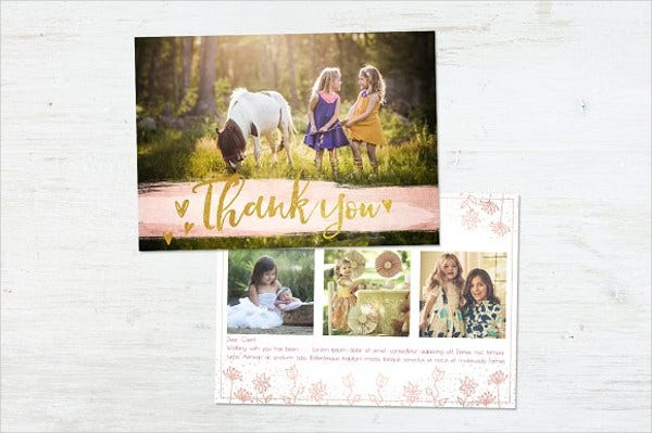 handmade thank you cards with photo