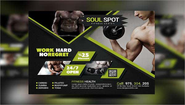 24+ Fitness Flyer Designs - PSD, Word, Publisher | Free
