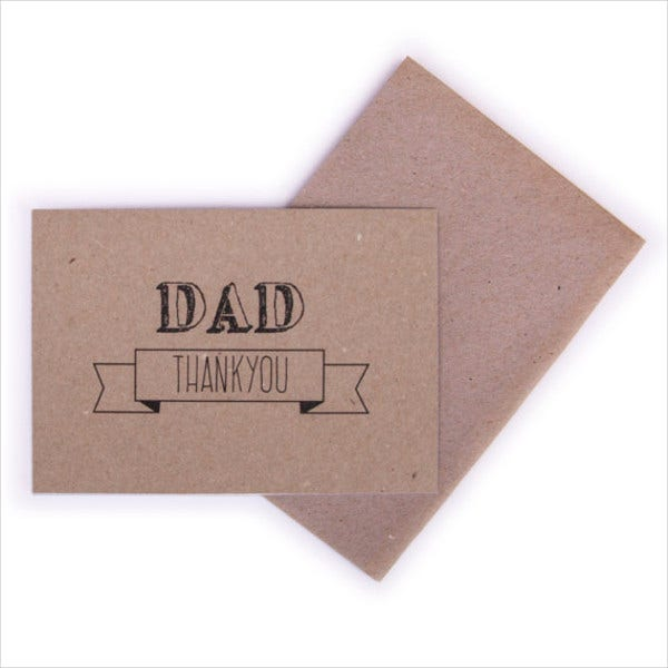 handmade fathers day thank you card