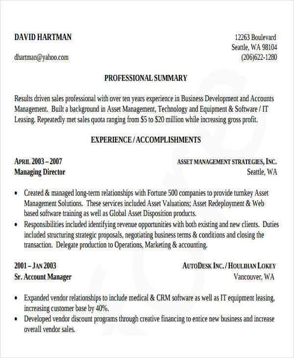 professional business development resume1
