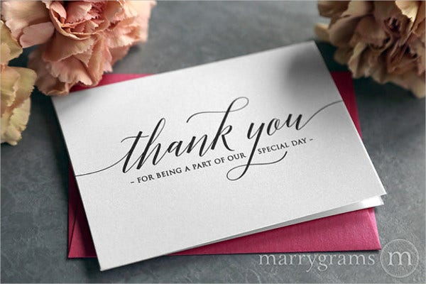 wedding venue thank you card